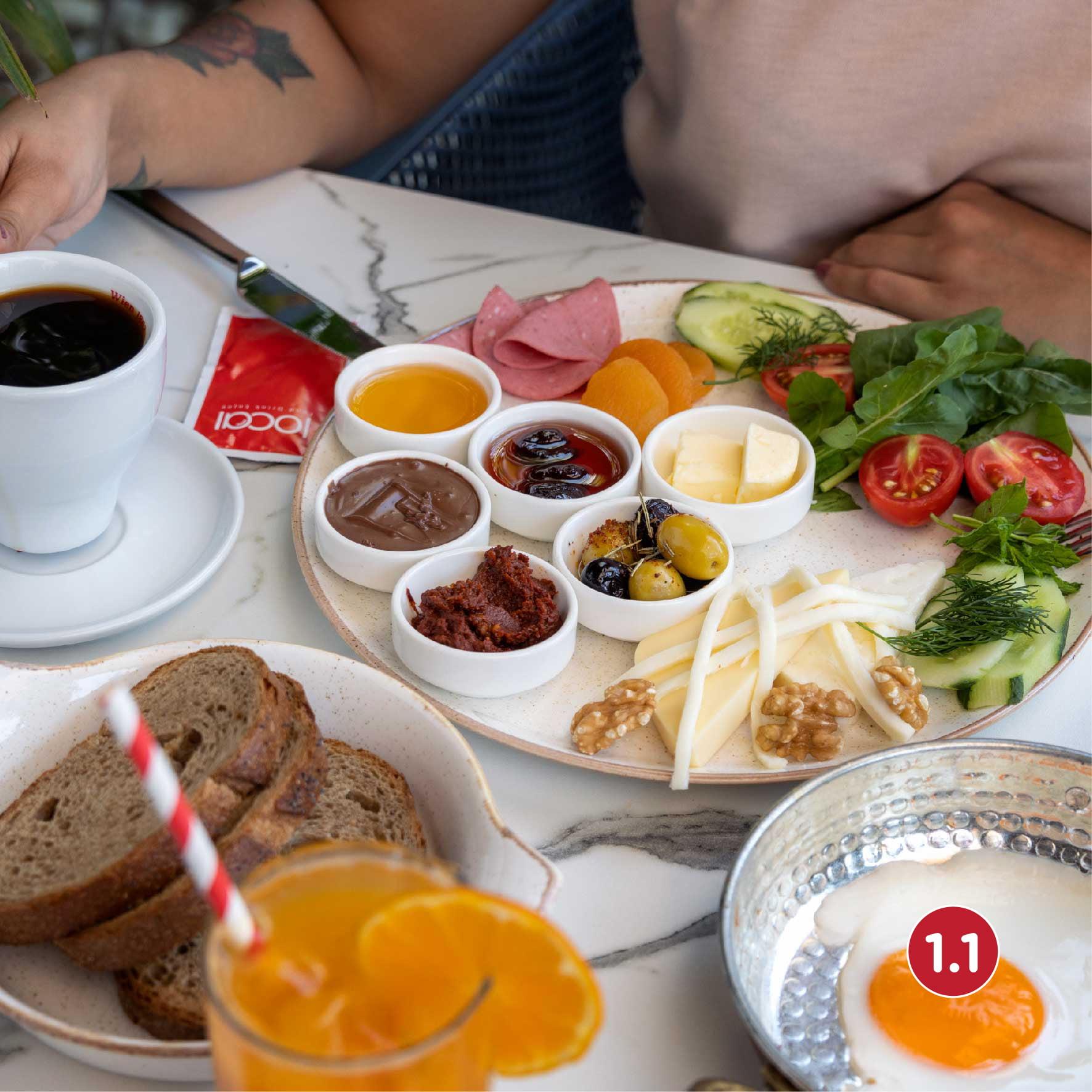 KAHVALTI  TABAĞI  / ALL DAY BREAKFAST /Стандартный завтрак 40 TL